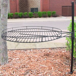 height adjustable cooking fire pit grate