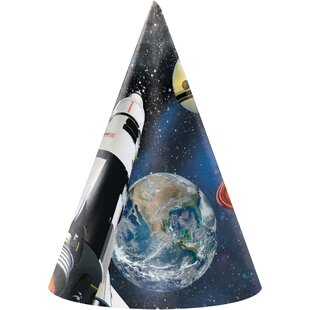 Space Blast Hat Paper Disposable Party Favor (Set of 24)