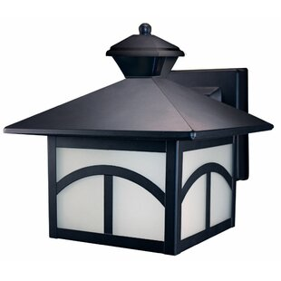 Compare prices Thawville 1-Light Outdoor Wall Lantern By Three Posts