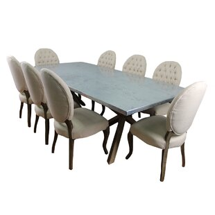 Llewellyn 9 Piece Dining Set by 17 Stories