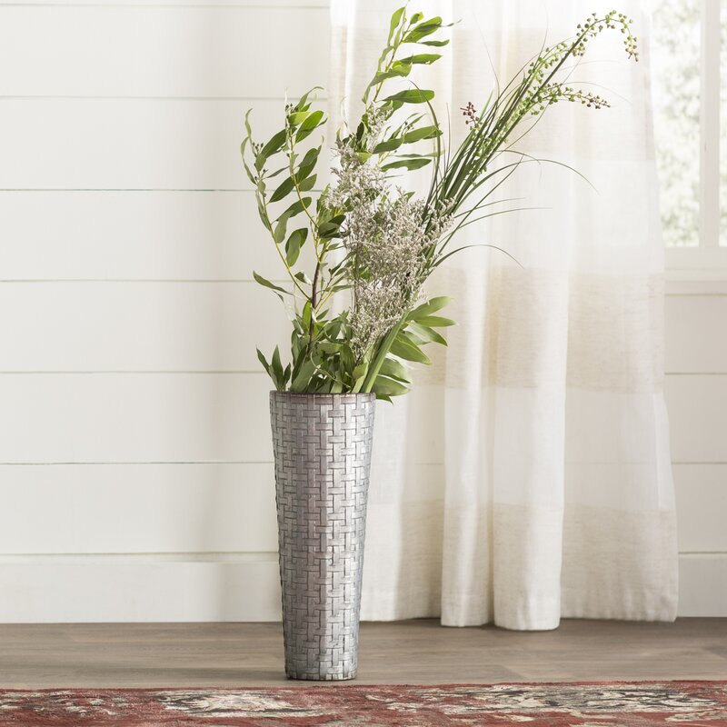 Laurel Foundry Modern Farmhouse Galvanized Metal Table Vase
