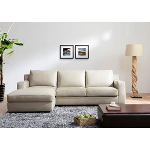 Orren Ellis Arguello Leather Sleeper Sectional