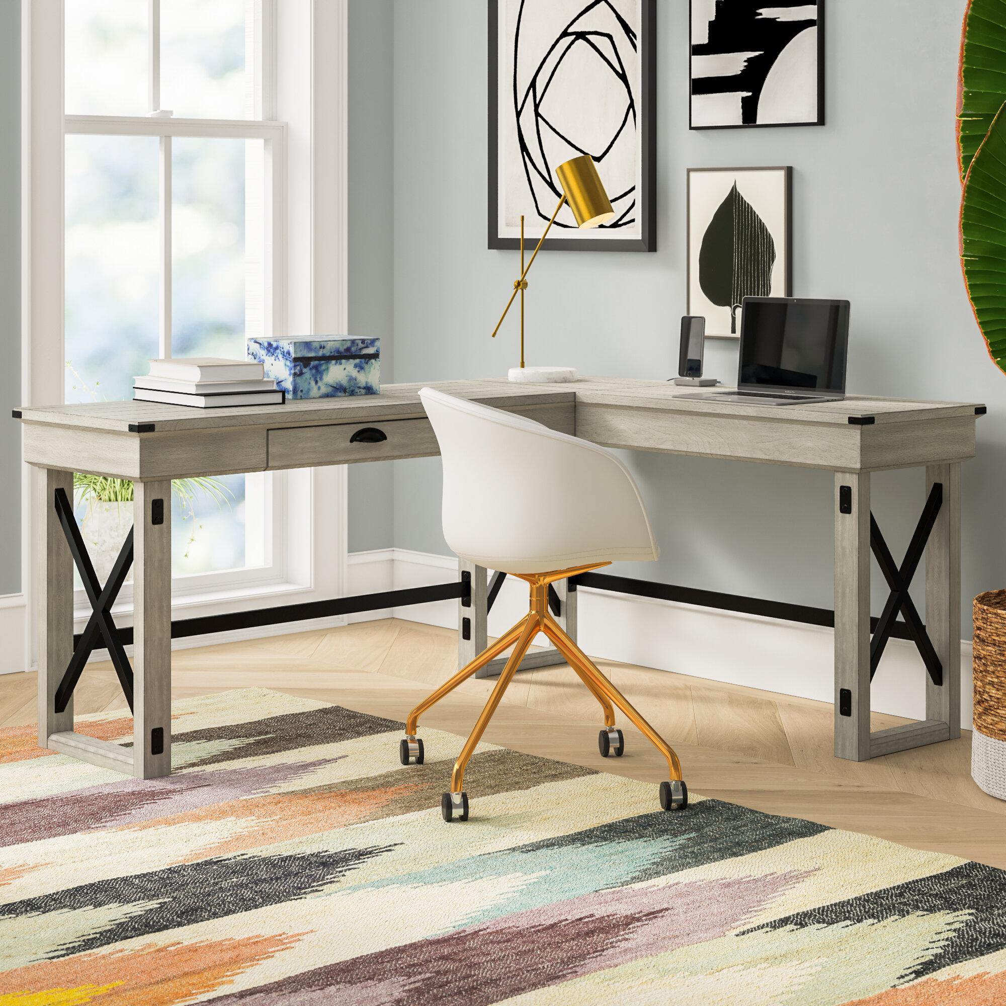 Image of: Tasha L Shape Standing Desk Reviews Joss Main