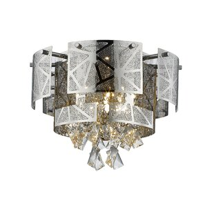 Everly Quinn Giancola Laser Cut 5-Light LED Flush Mount