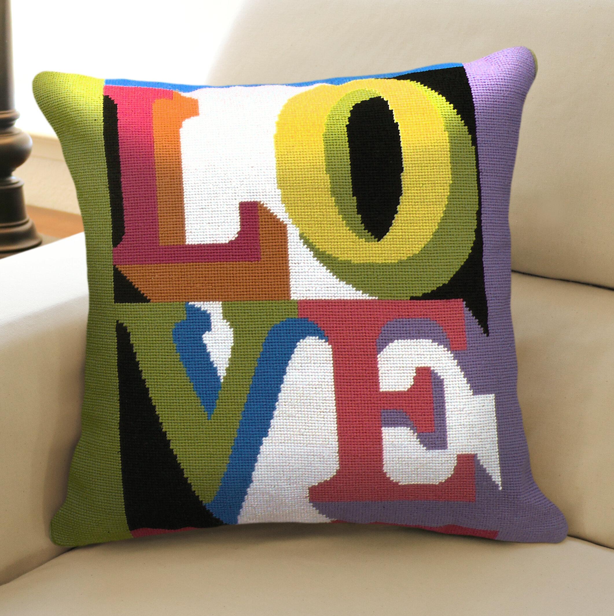 123 Creations Love Wool Throw Pillow Wayfair