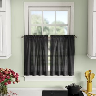 Window Valances, Café & Kitchen Curtains You'll | Wayfair on decorating ideas for bedrooms, decorating above kitchen window ideas, decorating ideas for doors, decorating ideas for vaulted ceilings, decorating ideas for floors, decorating ideas for living room, decorating ideas for mirrors, decorating ideas for fireplaces, decorating ideas for decks, decorating ideas for dining room, country decorating with old windows,