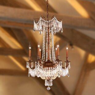 Reimer 9-Light Glass Empire Chandelier by Astoria Grand