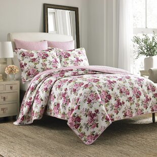 Lidia 100% Cotton Reversible Quilt Set by Laura Ashley Home
