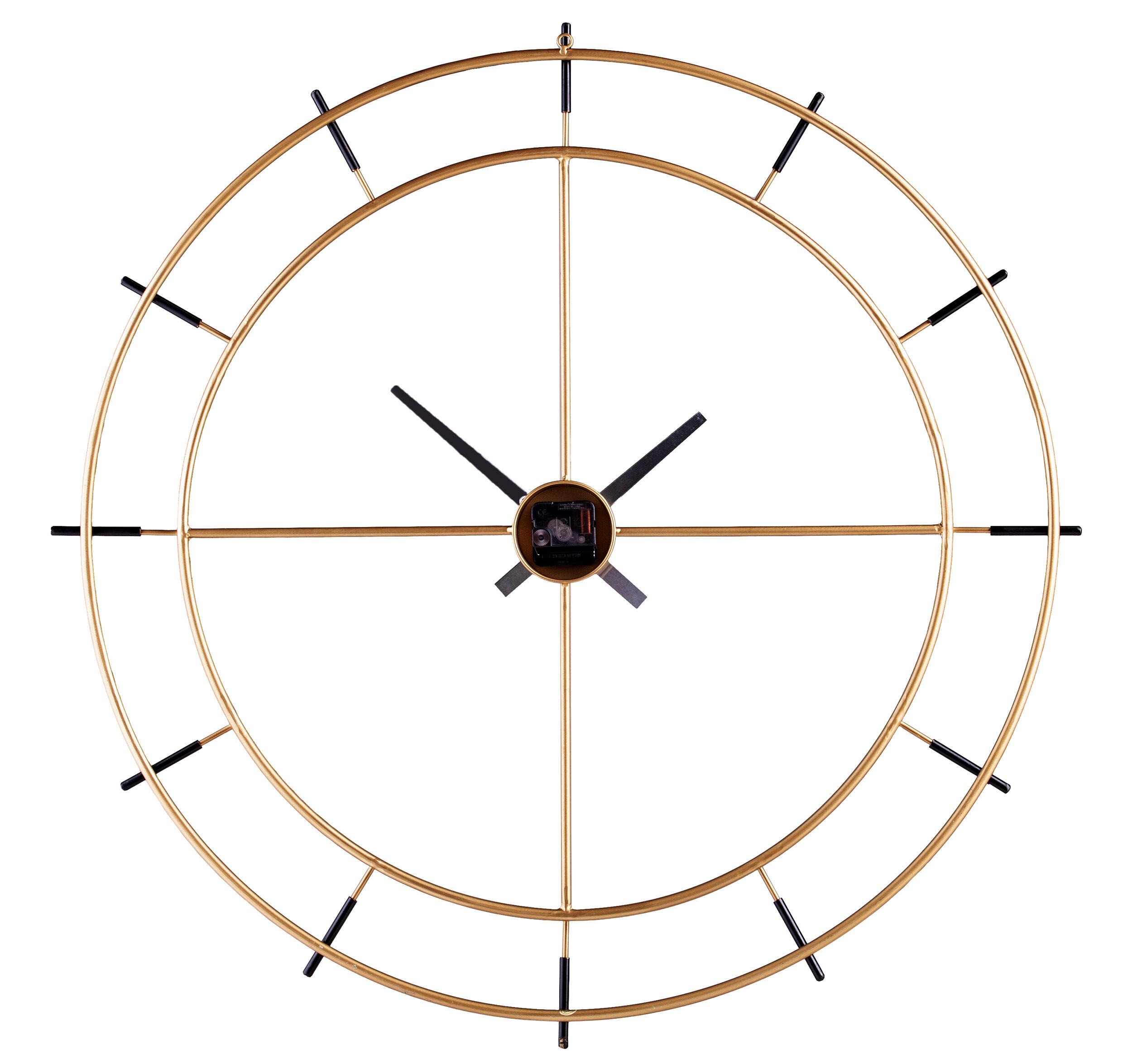 Mercer41 Oversized Plemons 35 Wall Clock Reviews Wayfair Ca