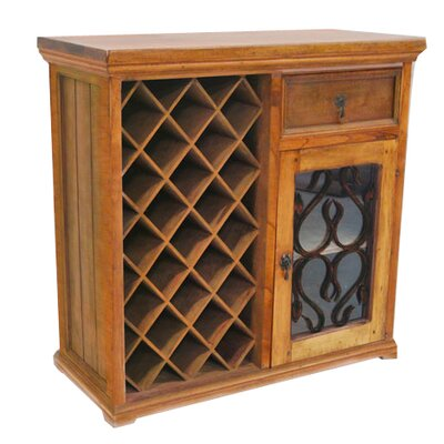 23 Bottle Bar with Wine Storage Artesano Home Decor