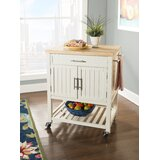 Matus Butcher Block Kitchen Cart by Highland Dunes