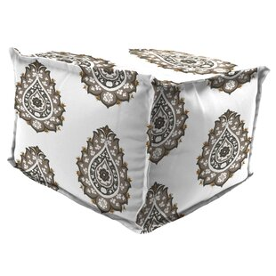 Bloomsbury Market Iseminger Flange Edge Pouf Ottoman with Cushion
