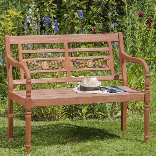 Gartenbank aus Massivholz | Garten > Gartenmöbel > Gartenbänke | Natürlich/braun | Massivholz - Rattan | Garten Living