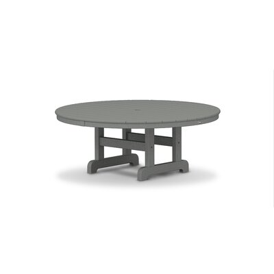 """Trex Outdoor Cape Cod Plastic/ Resin Chat Table Finish: Stepping Stone, Table Size: 36"""""""
