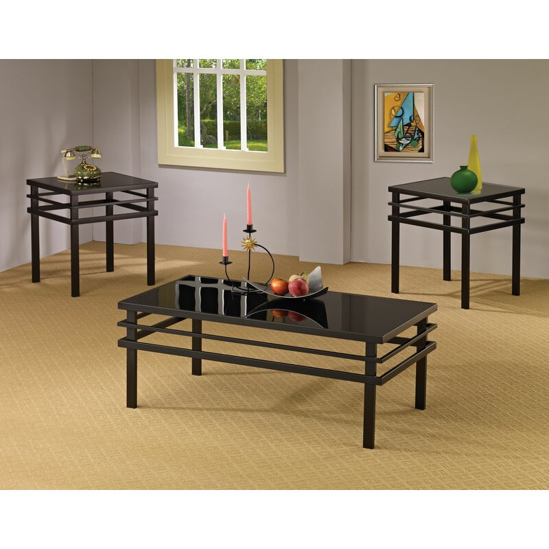 Wildon Home Bingham 3 Piece Coffee Table Set Reviews Wayfair