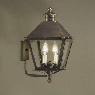 Top Reviews Jamestown 2-Light Outdoor Sconce By Northeast Lantern