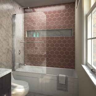 Shower bathtub doors youll love wayfair aqua swing 34 x 58 hinged tub door planetlyrics Choice Image