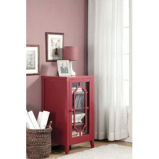 Charlton Home Rencher Glass & Wood Bar with Wine Storage
