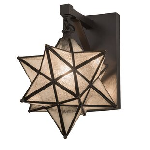 Raby Moravian Star Outdoor Sconce by World Menagerie