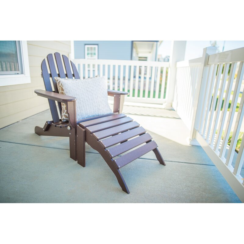 Rosecliff Heights Plastic Resin Folding Adirondack Chair With Ottoman Reviews Wayfair