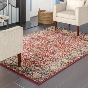 Broomhedge Power Loomed Red/Blue/Yellow/White/Deep brown/Light brown Area Rug By Charlton Home