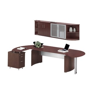 Mayline Group Medina Series 2-Piece Standard Desk Office Suite