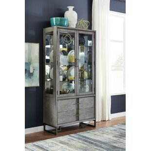 Eichhorn Wood Curio Lighted China Cabinet