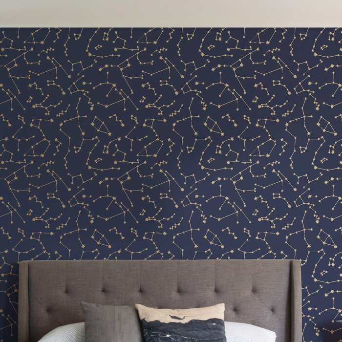 Novogratz Constellations 16 5 L X 20 5 W Peel And Stick Wallpaper Roll