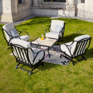 Riddle 5 Piece Multiple Chairs Seating Group with Cushions