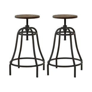 Camile Height Adjustable Bar Stool (Set Of 2) By Williston Forge