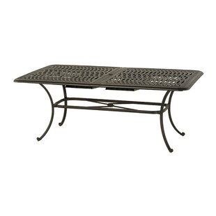 Merlyn Rectangular Extendable Aluminum Dining Table