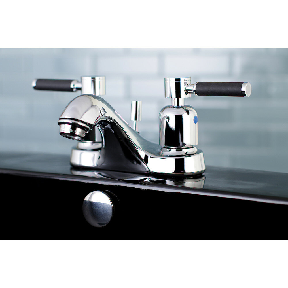 Kingston Brass Kaiser Centerset Bathroom Faucet with Drain Assembly ...