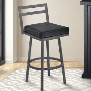 Lexis 30 Swivel Bar Stool Brayden Studio
