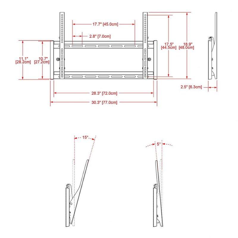 """Tilt Wall Mount for 32"""" - 63"""" Plasma/LED/LCD"""