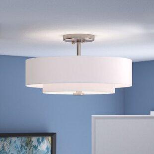 Zipcode Design Brittnie 3-Light Semi-Flush Mount
