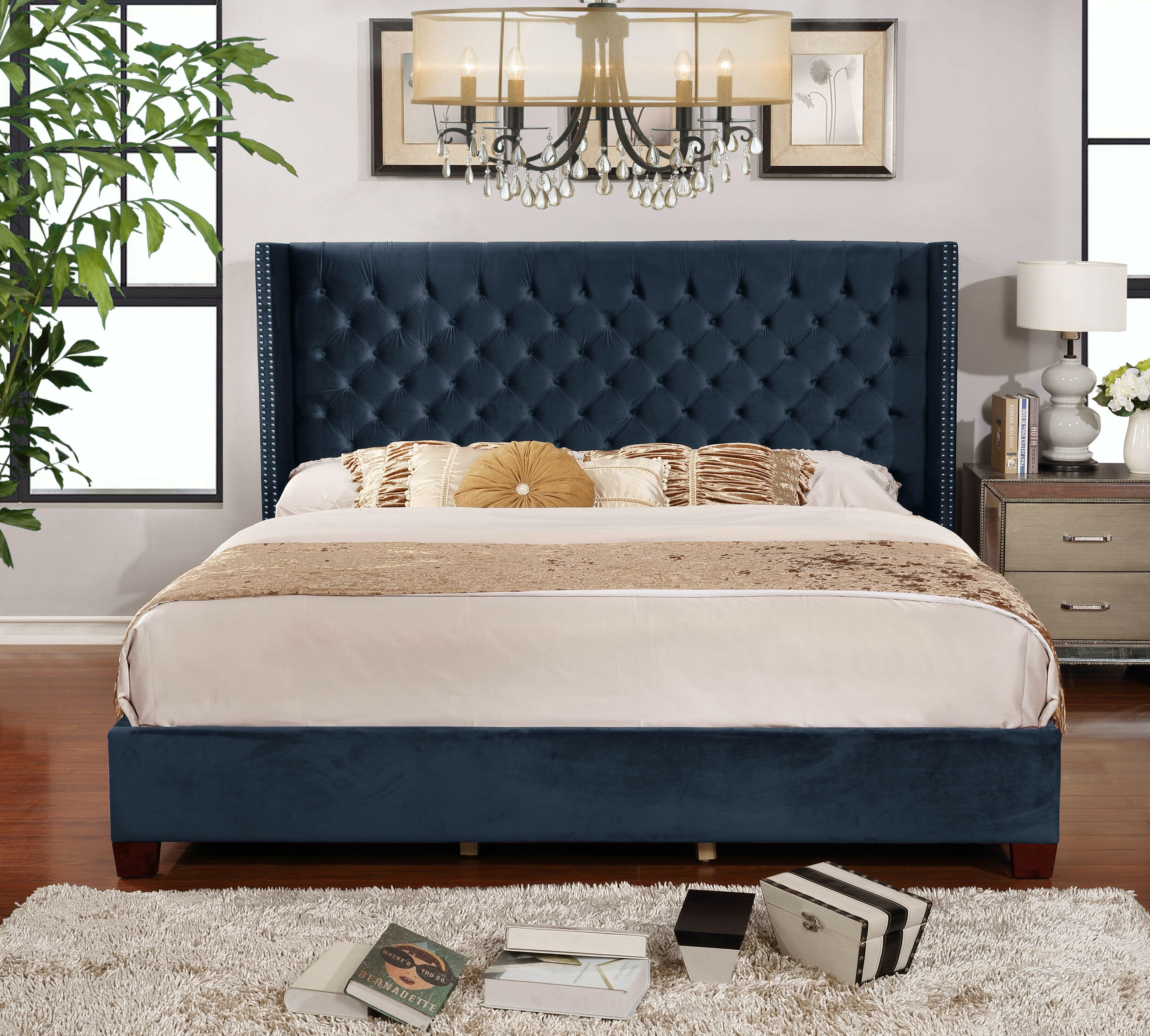 Picture of: Mercer41 Grijalva Upholstered Platform Bed Reviews