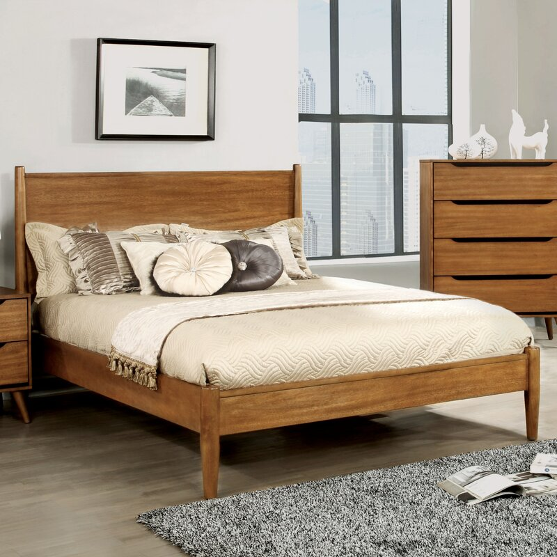 Mason Mid Century Modern Platform Bed