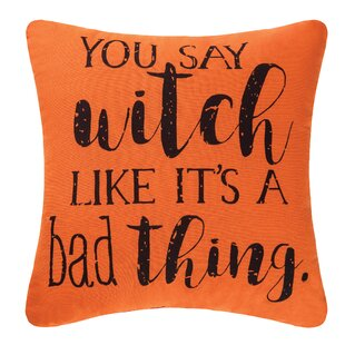 You Say Witch Halloween Throw Pillow