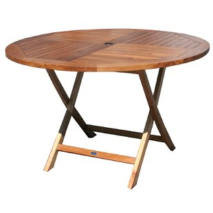 Paradiso Folding Solid Wood Bistro Table by Breakwater Bay