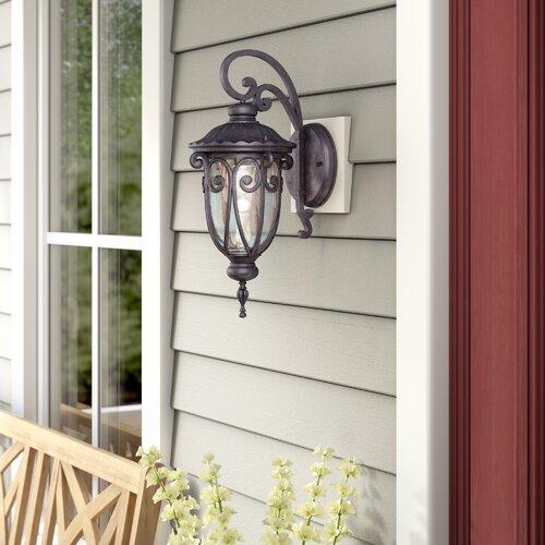 Astoria Grand Devlin Brown 1 Light Outdoor Wall Lantern Reviews Wayfair