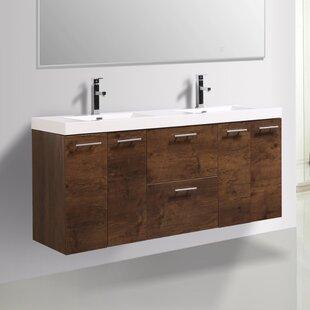 Read Reviews Ophir 72 Wall-Mounted Double Bathroom Vanity ByOrren Ellis