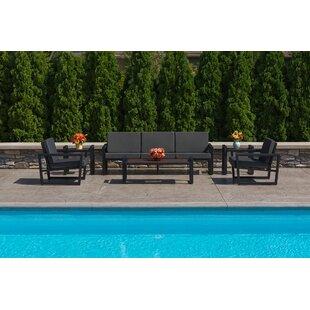 Elan Furniture Vero 6 Piece Sunbrella Sofa Set with Cushions