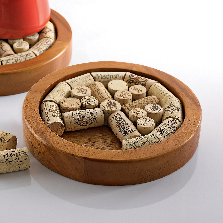 Wine Enthusiast Companies Round Wine Cork Trivet Kit Wayfair