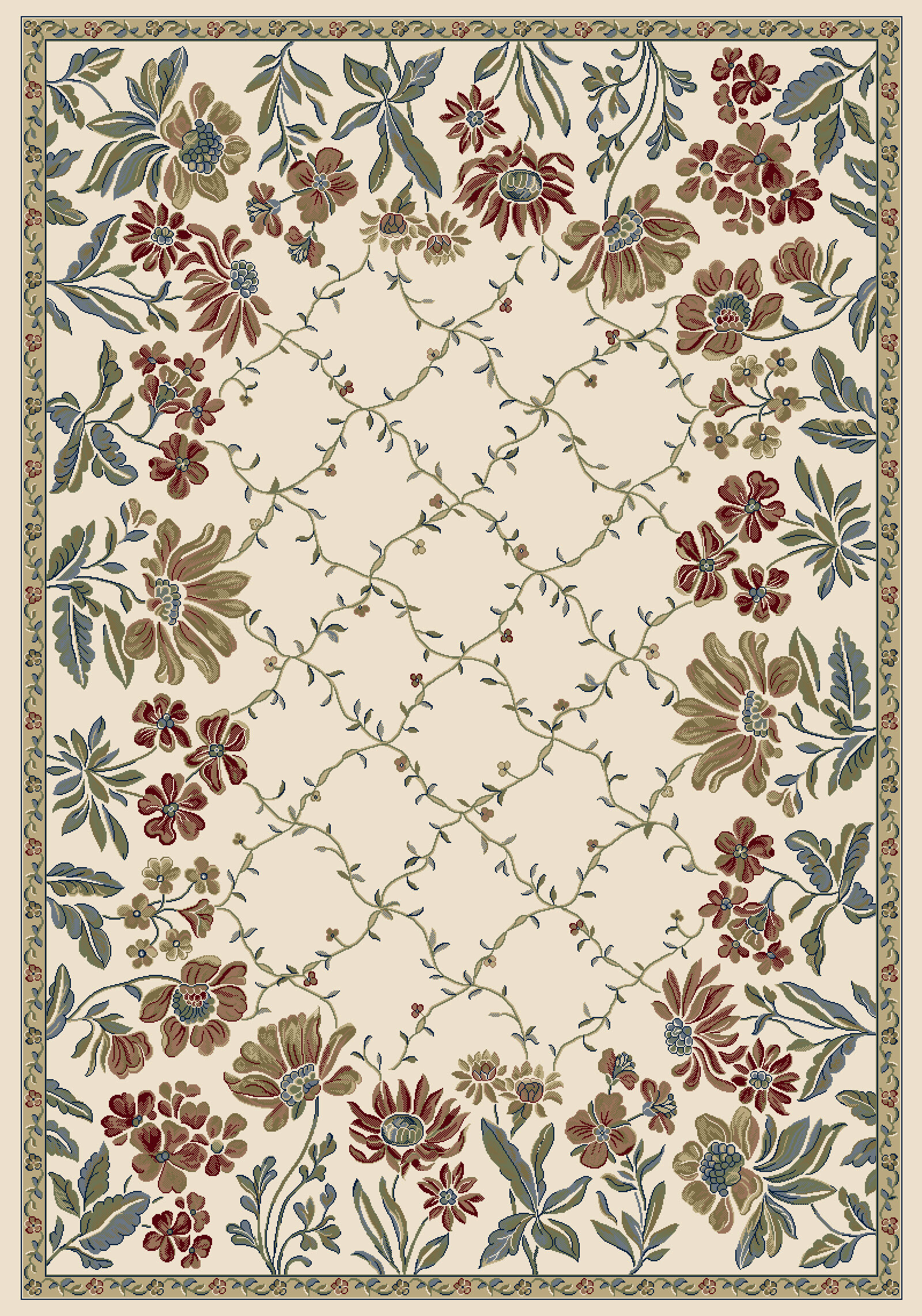 Charlton Home Angie Floral Multicolor Area Rug Reviews Wayfair