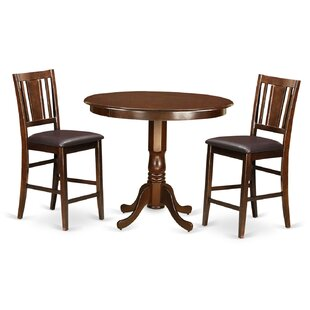 Trenton 3 Piece Counter Height Pub Table Set by Wooden Importers