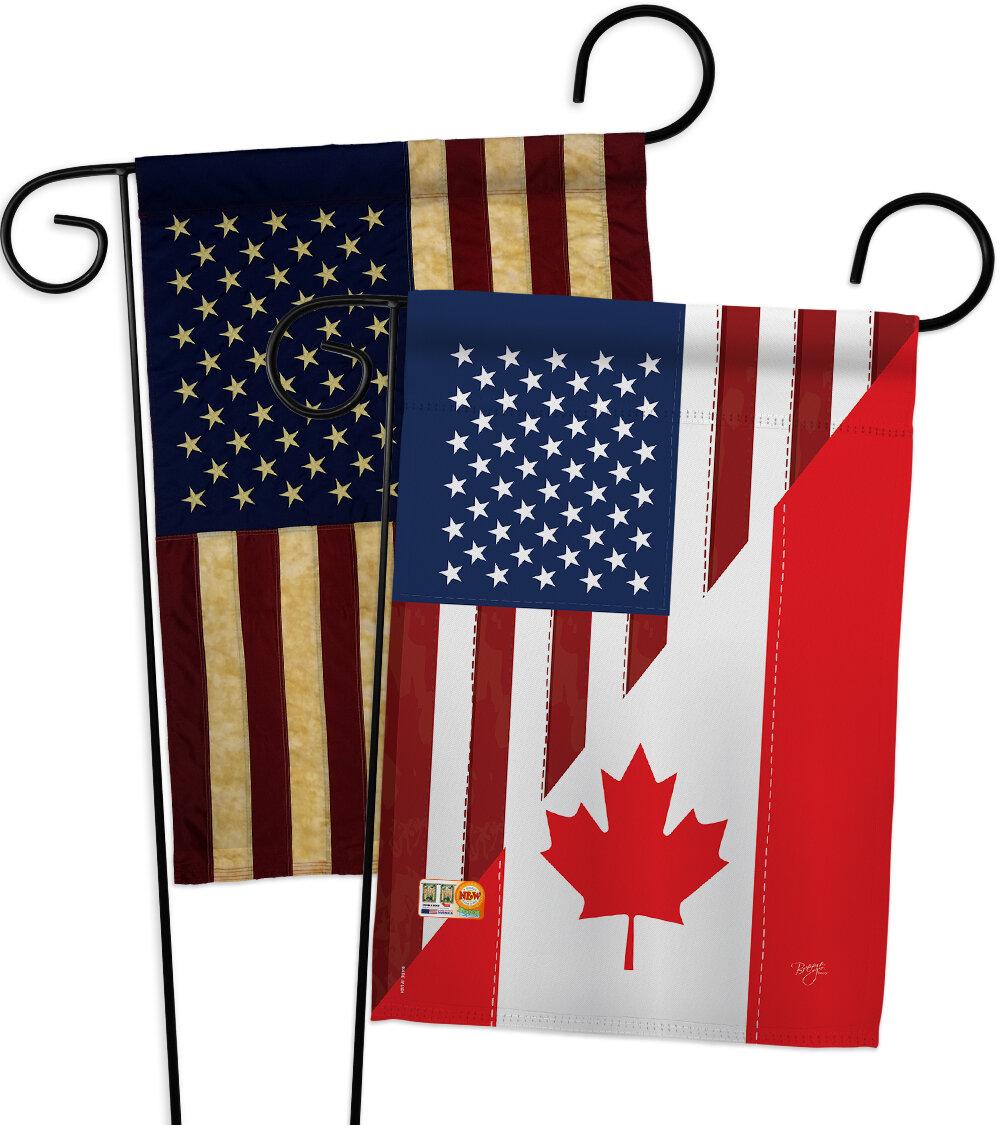 Breeze Decor American Canada Friendship Impressions Decorative 2 Sided Polyester 19 X 13 In 2 Piece Garden Flag Set Wayfair