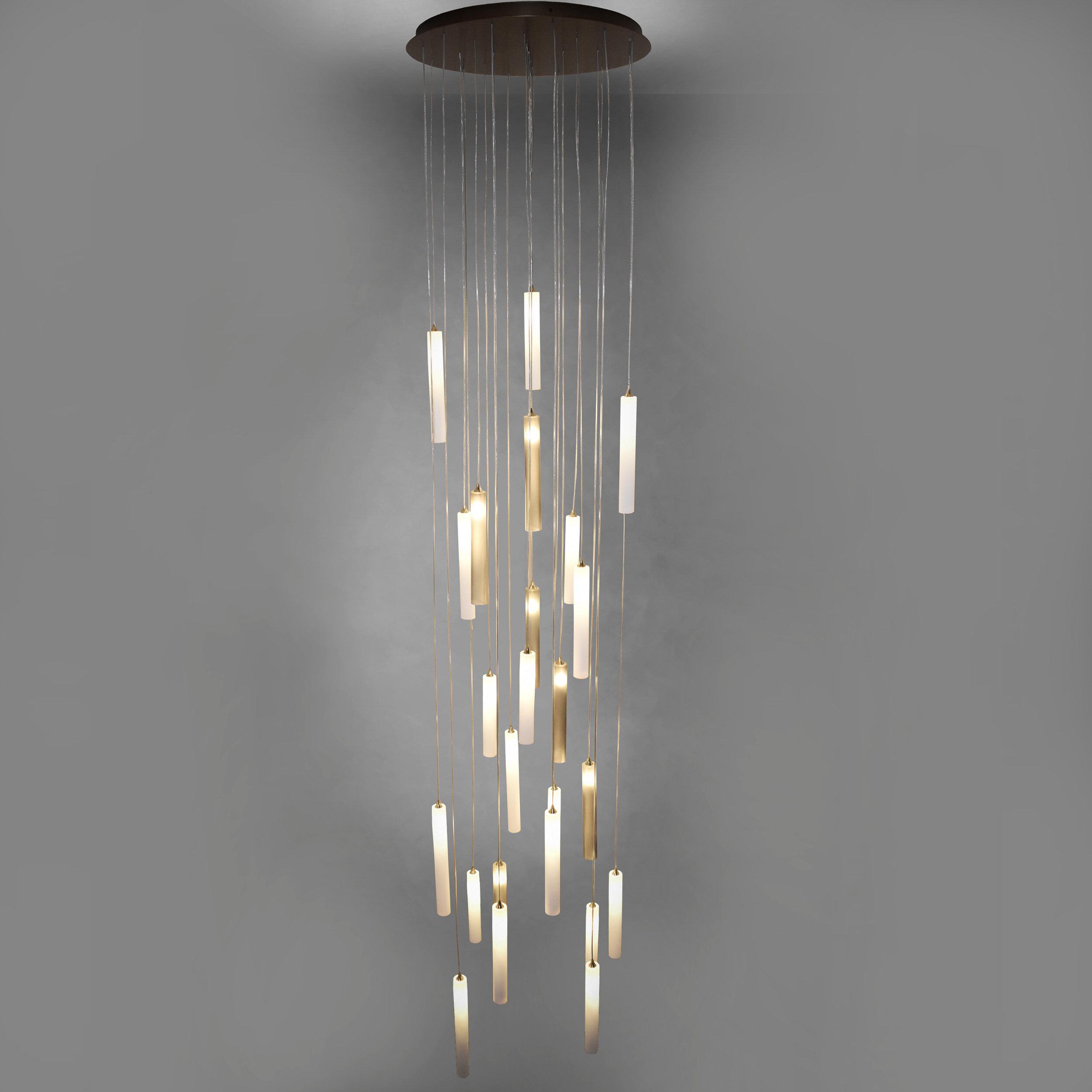 Galilee Lighting Rainfall 25 Light Cluster Cylinder Pendant Perigold