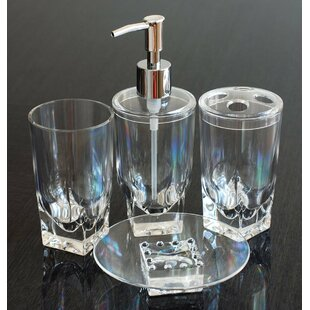 Online Reviews Ice Cube 4-Piece Bathroom Accessory Set ByQGoods Inc.