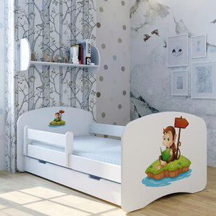 Monkey Tom Bed With Mattress And Drawer By Zoomie Kids