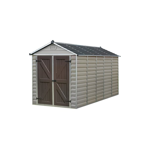 palram skylight 6 ft w x 12 ft d plastic storage shed reviews wayfair